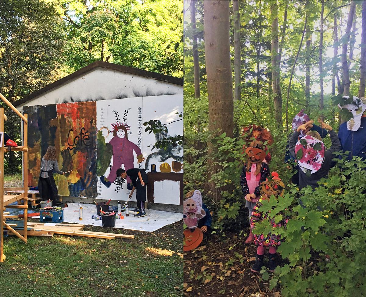 "DER FAHRENDE RAUM | Wandmalerei ""Café Größenwahn"