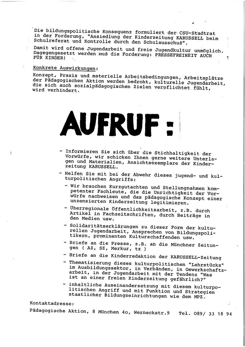 DER FAHRENDE RAUM | Zensur für Kinderzeitung, (Zeitdokument), courtesy PA-Pädagogische Aktion / Kultur & Spielraum e.V. -