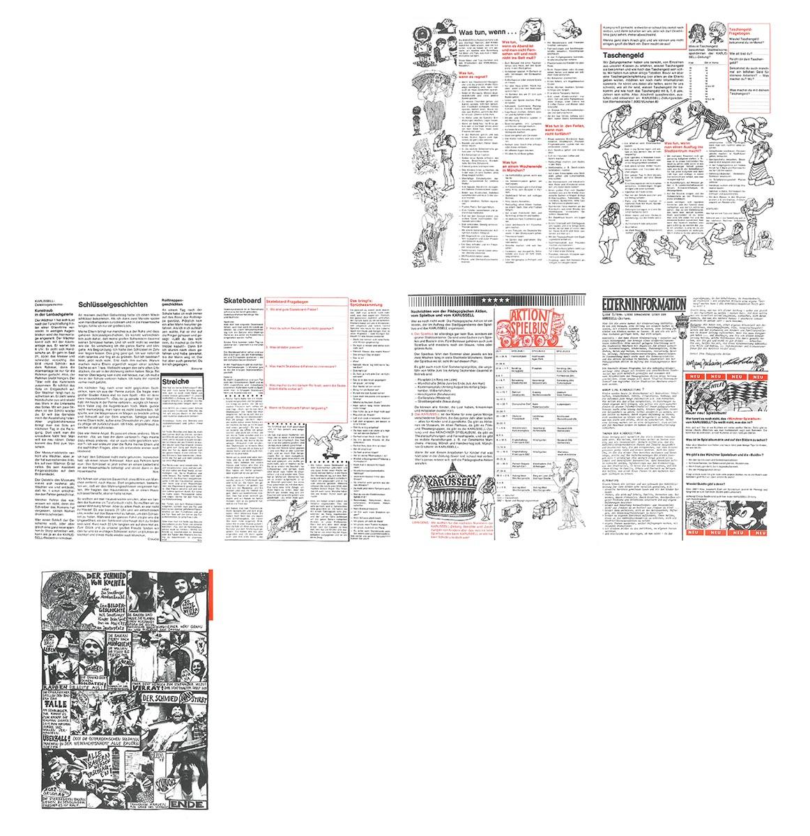 DER FAHRENDE RAUM | Erste Ausgabe der Kinderzeitung Karussell, München 1977, Herausgeber: PA-Pädagogische Aktion -