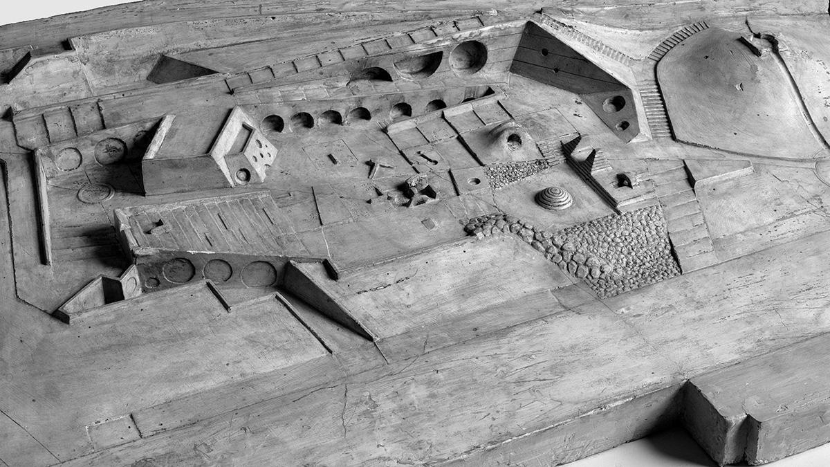 DER FAHRENDE RAUM | Isamu Noguchi, Riverside Drive Playground model, 1965, Plaster © The Isamu Noguchi Foundation and Garden Museum/ VG Bild-Kunst, Bonn 2020 -
