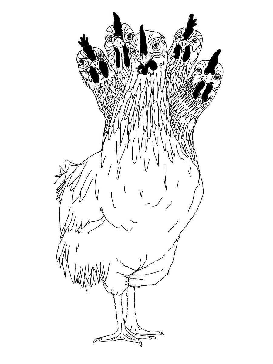 DER FAHRENDE RAUM | Hühnerhydra, Jonas Beutlhauser, thinkpen auf tablett, 594×841 mm, 2018 -