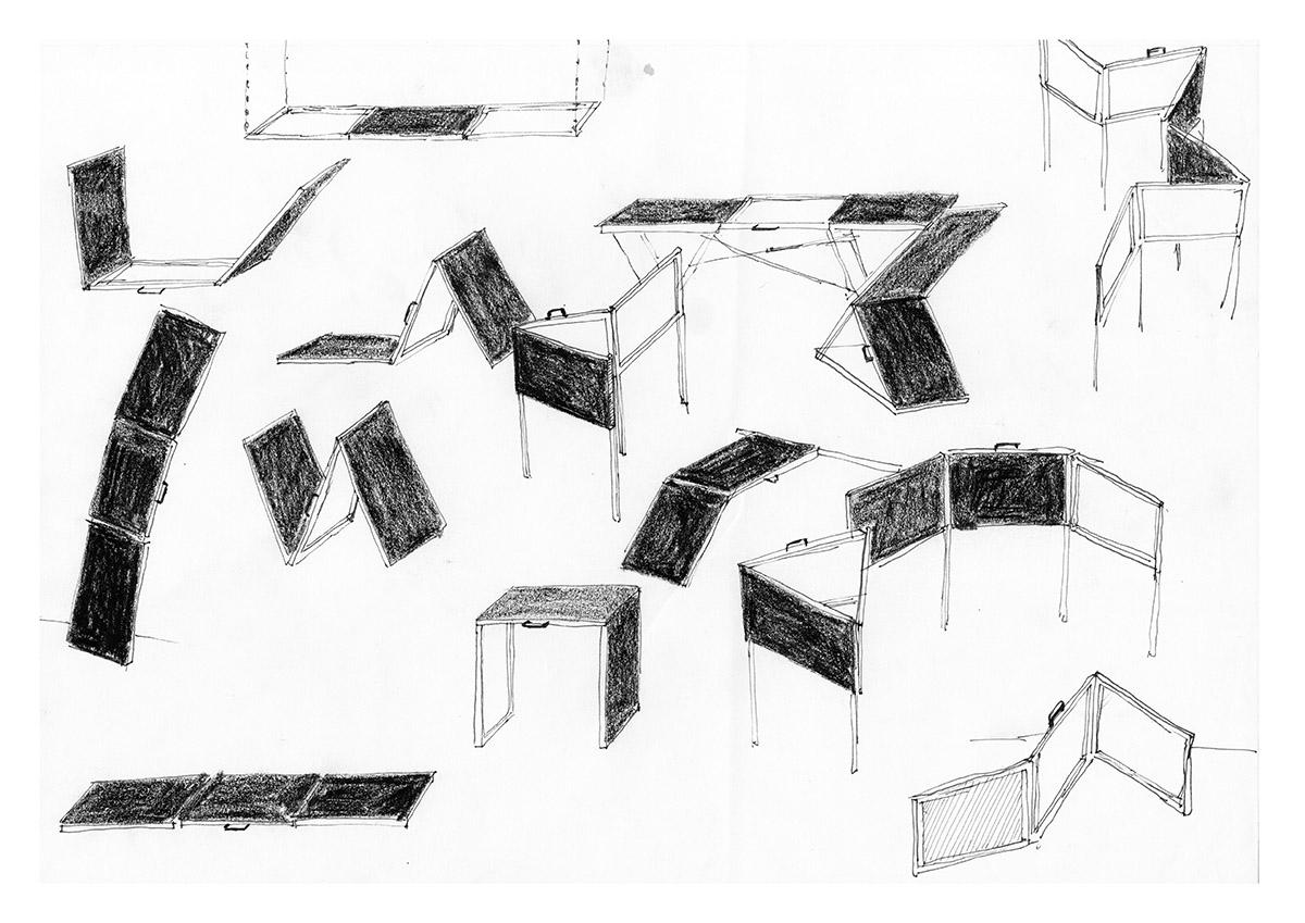 DER FAHRENDE RAUM | Liederliche Subjekte, Jonas Beutlhauser, Buntstift/Fineliner auf Papier, 297×420 mm, 2018 -