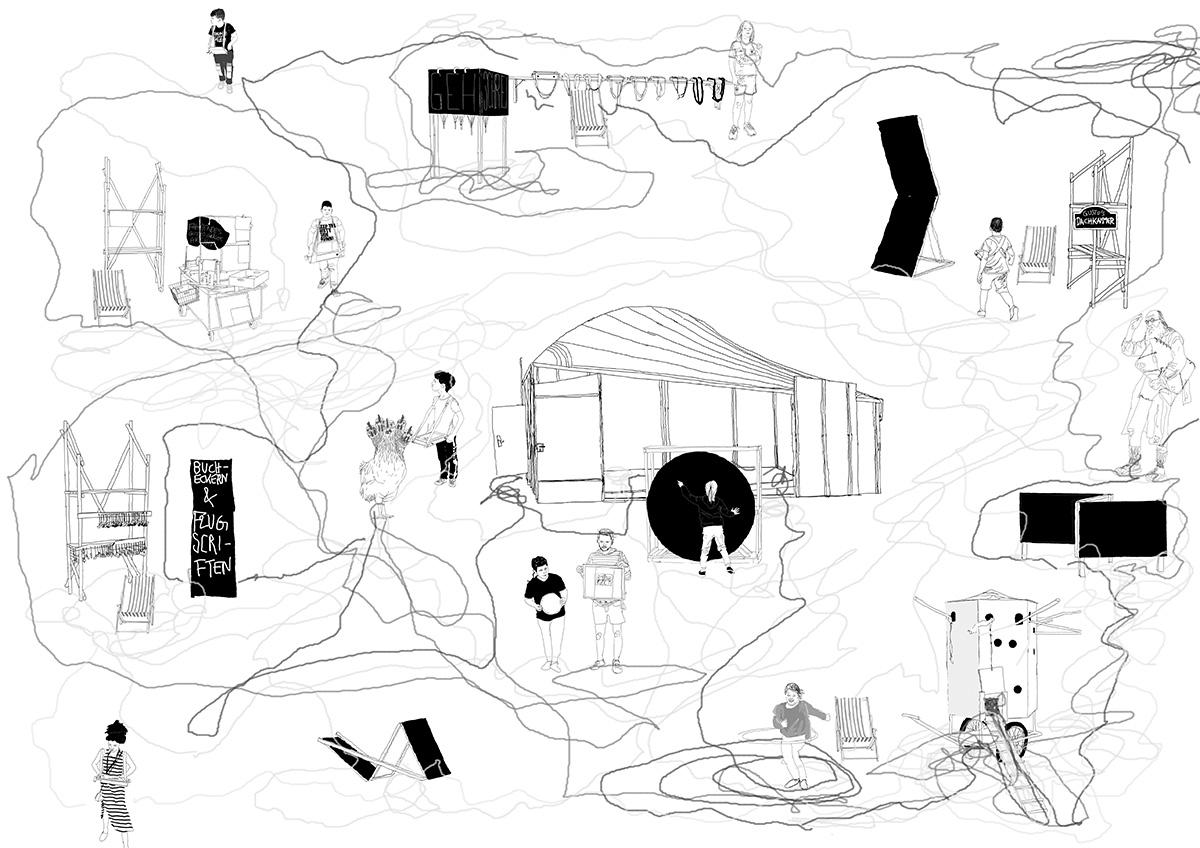 DER FAHRENDE RAUM | Intentionen, Jonas Beutlhauser, thinkpen auf tablett, 594×841mm, 2018 -