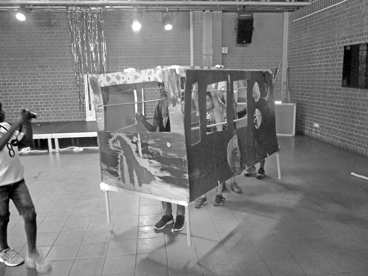 DER FAHRENDE RAUM | Freizeittreff Freimann, Cyborg Disco Party. Freizeittreff Freimann, Eva Egermann und Der Fahrende Raum, im Rahmen der Cyborg Disco Werkstatt 2018 -