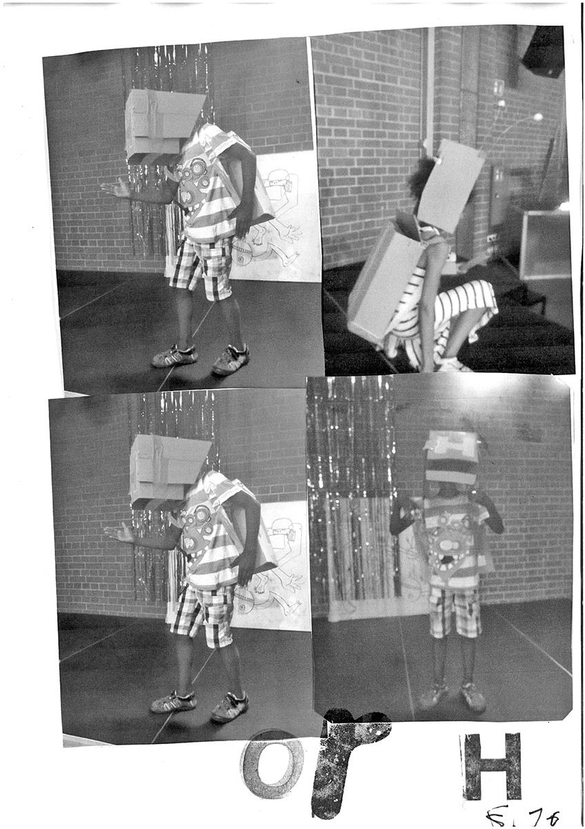 DER FAHRENDE RAUM | Seite aus der Partyzeitung, Cyborg Disco Party, Freizeittreff Freimann, Eva Egermann und Der Fahrende Raum, im Rahmen der Cyborg Disco Werkstatt 2018 -